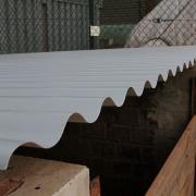 Das neue Dach des Ziegelmehlhäuschens am 17. März 2017