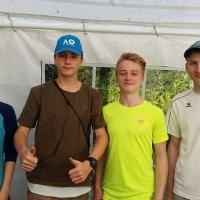 2. Junioren am 6. Mai 2017: Fabian, Constantin, Cedric und Niklas.