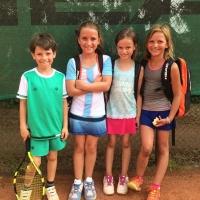 Kleinfeld-Tagessieg am 22. Juni 2017: Luis, Sophie, Joana, Lotta.