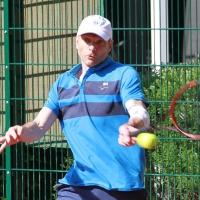 Diesmal an Position 1: Steffen am 20. Mai für den Tabellenführer Herren 40/1.