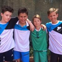 2. U15 Knaben am 11. Juni 2017: Finn, Paul, Lennard und Niklas
