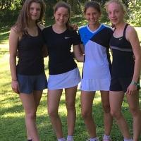 2. U15 Mädchen: Finja, Vanessa, Anna-Lynn und Luisa am 11. Juni 2017