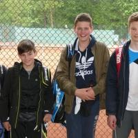 Die 1. U15 Knaben am 7. Mai 2017: Luca, Jonas, Joshua und Luis.
