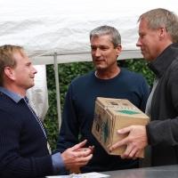 Richard, Sieger Herren 30, TL Frank und BRANTEC-Inhaber Jürgen