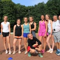 Dienstag. Leichtathletik mit Trainer Waldemar.