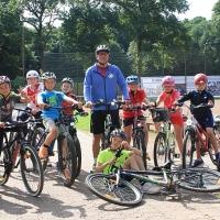 Die Radsportgruppe am Dienstag.