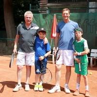 Peter, Lukas, Michael und KM Lennard.