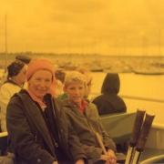 Gisela und Klaus auf der Rückreise im August 1979.