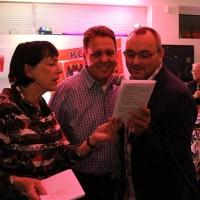 Die Rockabellas brachten uns zum Singen: Lynn, Jörg und Lutz.