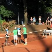Beginn der Doppel der Herren. Gegner: TC GW Gut Buschhof