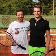 Jörg und Tom auf dem Centercourt