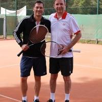 Christian und Klaus vor dem Herren 40-Einzel-Finale