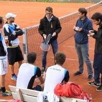 Mit den Fans Tom, Matthias und Kai.