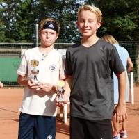 U12-Clubmeister Lennard. Und Karl.