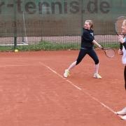 Renée und Hanne beim Training