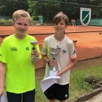 U12-BM-Finale am 3. Juni 2018: Henrik (RW Hangelar) und Lennard (SVR)