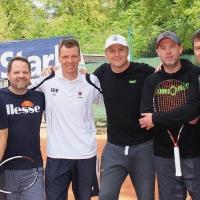 Herren 40/1 am 28. April mit Tim, Mathias, Udo, Claus, Alex und Christian