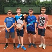Luis, Conrad, Paul und Pascal für die 3. U15 Knaben am 10.06.2018
