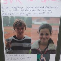 Mai 2018: Kreismeister: Toni (U11) und Caro (U14)