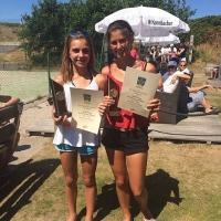 Clara und Anna-Lynn gewannen auf Baltrum wie im Vorjahr den Juniorinnen-Doppel-Wettbewerb. Herzlichen Glückwunsch!!!