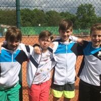 1. U12 Knaben: Toni, Lennard, Jannik und Leo am 28.04.2018