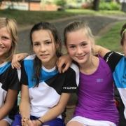 2. Großfeld am 16.06.2018: Lotta, Jula, Marie und Lale