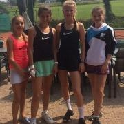 Clara, Anna-Lynn, Nele und Caro am 9. Juni