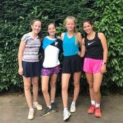 3. Juniorinnen, 30.06.2018: Carolina, Caro, Nele u. Anna-Lynn