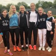 1. Juniorinnen: Carolin, Annika, Carlotta, Fabienne, Luisa und Clara