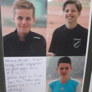 U12-Kreismeister Leo.  Zweite Lennard (U12) und Joshua (U16)
