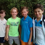 2. U15 Knaben am 28. April: Lennard, Karl, Niklas und Paul