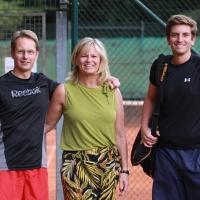 Andreas, Turnierleiterin Nicole, Julius