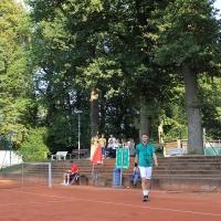 Sven und Christian auf dem Centercourt