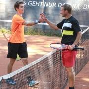 Florian (rechts) zog ins Finale ein.