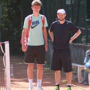 Nick und Jakob vor dem Finale der Nebenrunde.