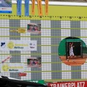 Die Tennisschule Holthaus bot Schnuppertraining an.
