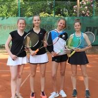 3. Juniorinnen: Ruth, Franca, Marie und Caro am 18.05.2019