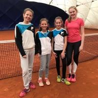 Marie, Lotta, Marie und Marieke am 27.01.2019: 5:1 als 2. U15 Mädchen
