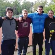 Die Herren in der 2. B am 5. Mai: Nick, Ansgar, Paul, Jan, Flo und Matthias