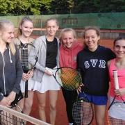 1. Juniorinnen am 18.05.2019: Annika, Louisa, Fabienne, Carlotta, Nathalie und Clara