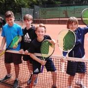 1. U15 Knaben am 19. Mai: Paul, Jannik, Karl und Toni
