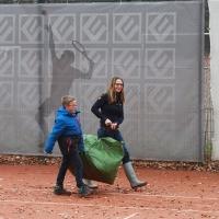 Max und Jutta auf dem Centercourt