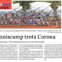 21./22. August 2020 auf der Titelseite des Bergischen Handelsblatts