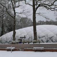 Etwas Schnee in Refrath am Sonntag, 17. Januar