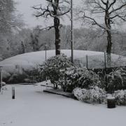 Nasse Schneelast am Sonntag, 24. Januar 2021