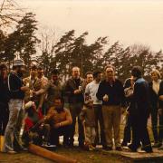 Auf dem Damm nach getaner Arbeit. Frühjahr 1976.