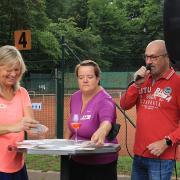 Die drei von der T-Leitung: Nicole, Andrea und Michael