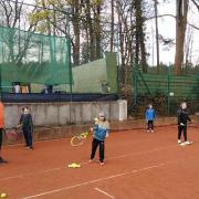 Vom 6. bis 9. April fanden die Ostercamps der Tennisschule Holthaus statt.