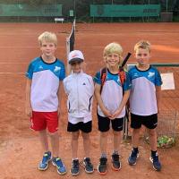 Kleinfeld am 26.08.2021: Clemens, Lina, Jarne und Elias