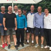 Nach dem 7:2-Sieg der Herren 50/1 am 4. Juli 2021 kam der Regen.